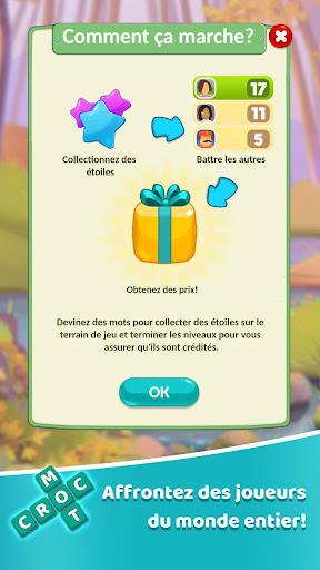 Code Triche Croc Mots: jeu de mots croisu00e9s APK MOD screenshots 3