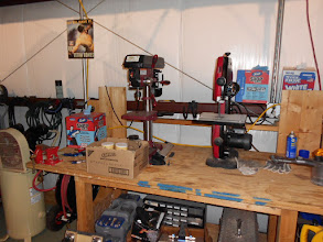 Photo: Got to have a drill press and band saw and extra parts.
