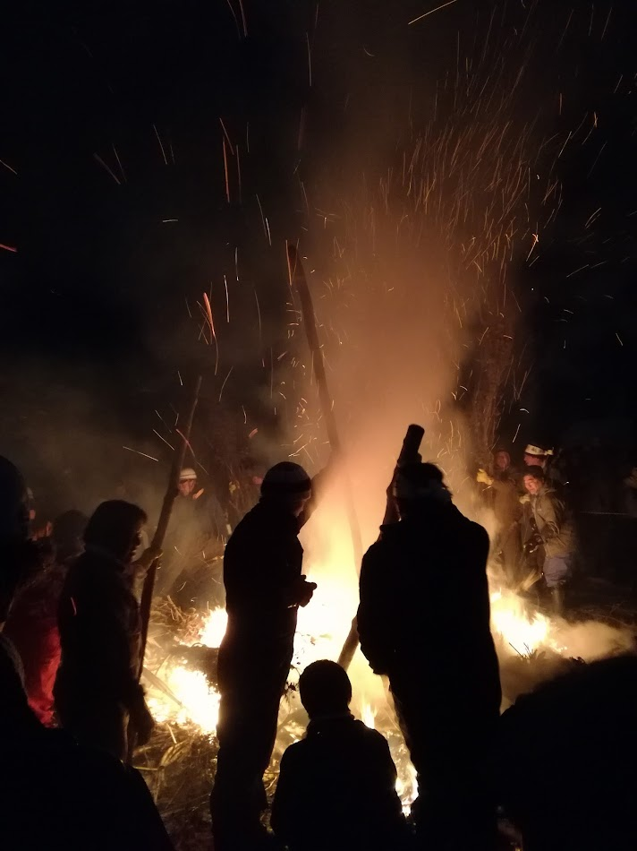 Bonfire embers.