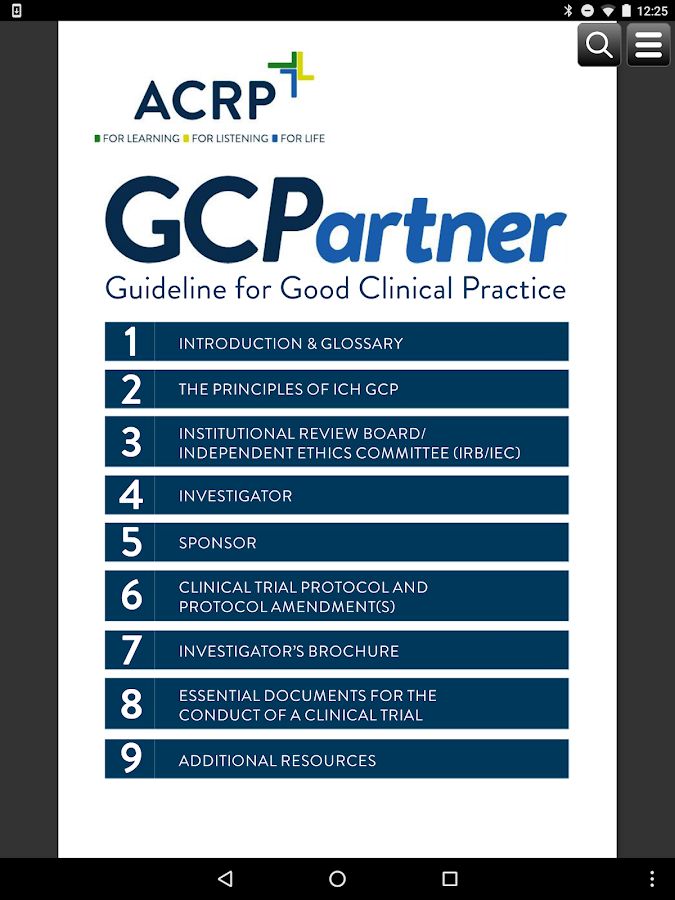 ACRP GCPartner (Phone)- screenshot