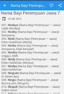 Nama Bayi Perempuan Jawa - náhled