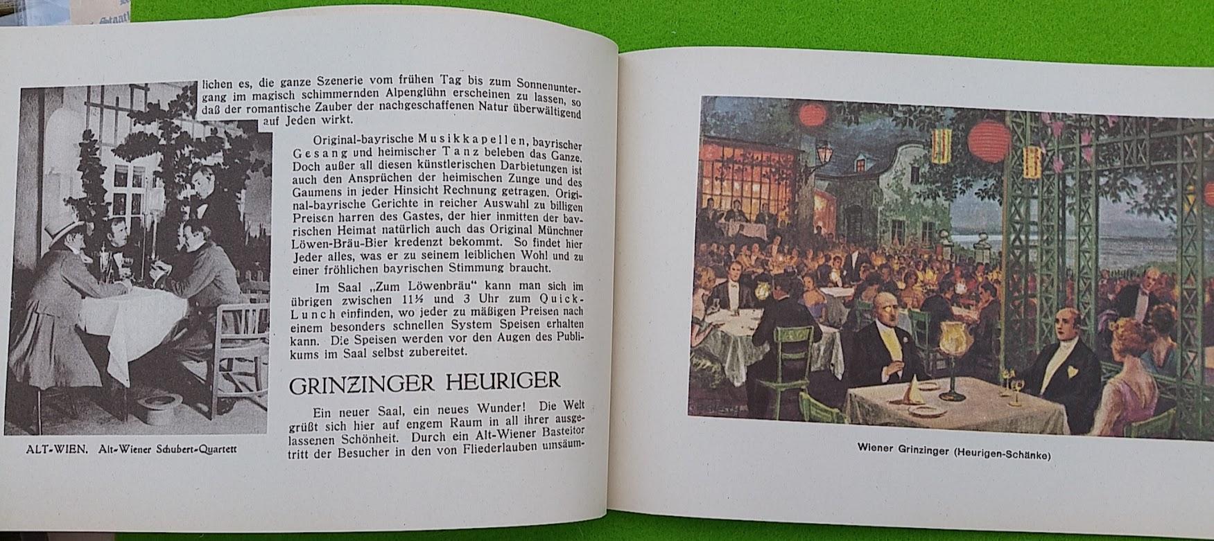 Begleitheft zur Eröffnung von Haus Vaterland am Potsdamer Platz, Berlin, 31. August 1928 - Wiener Grinzinger