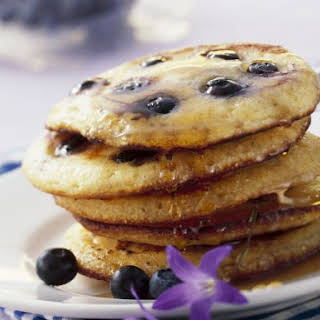 Whole Grain Blueberry Pancakes.