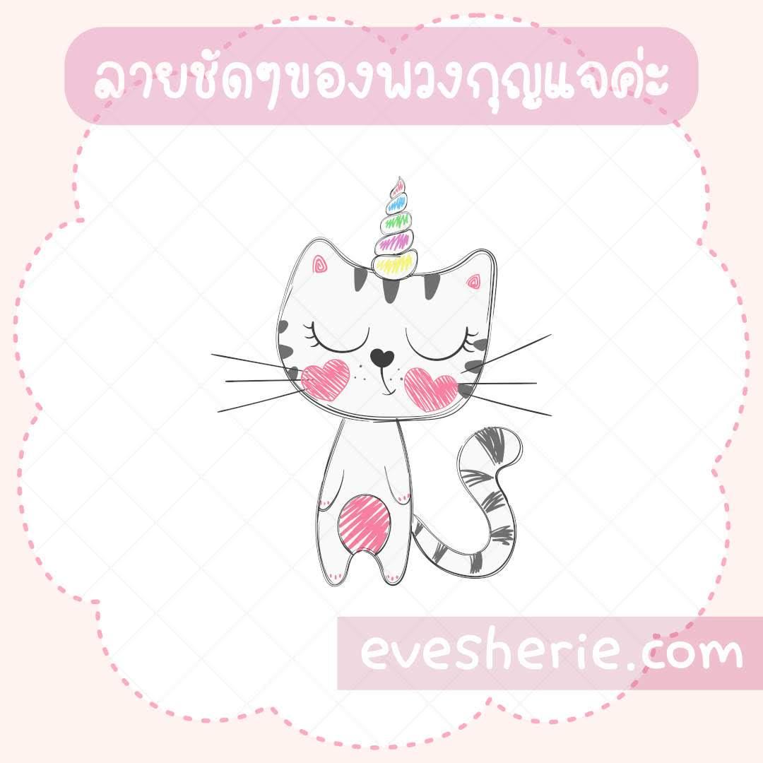 พวงกุญแจอะคริลิกน่ารักลายการ์ตูน พวงกุญแจแมวยูนิคอร์นน่ารัก