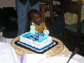 Photo: Cake to celebrate Rashid's birthday - however, he was 28, not 82 :-)