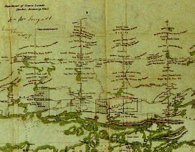 Photo: This is an 1863 map of the North Shore found in the Ontario Archives.