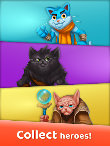 Cat Heroes: Puzzle Adventure 28.17.1 screenshots 6