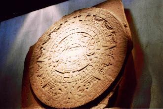 Photo: #024-La pierre du soleil ou calendrier aztèque au musée d'Antropologie de Mexico. 4m de diamètre, 24Tonnes.