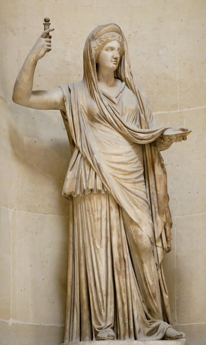 Hera Campana. Marmer, Romeinse kopie van een hellenistisch origineel, 2e eeuw n.o.t., Musée du Louvre,Parijs, verworven in 1863