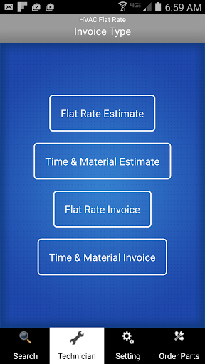 HVAC Flat Rate Invoice 7.25 screenshots 1