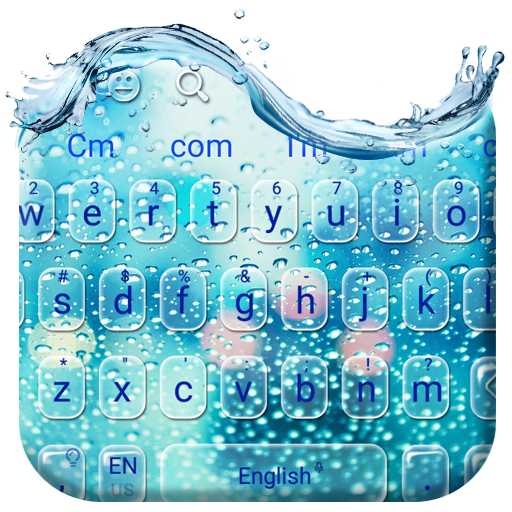 Water Glass Keyboard Theme