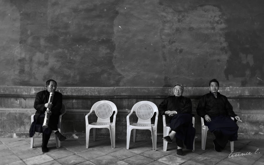 Yunnan by Terence Long - News & Events World Events ( old, sitting, black and white, smoking, pwcprofiles, religious, senior )