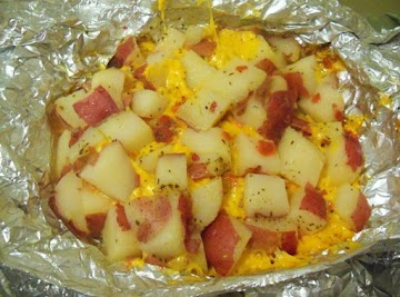 Cheesy Grilled Potatoes Recipe