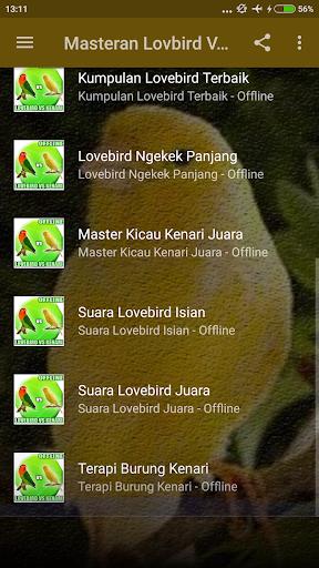 Masteran Lovebird Vs Kenari Mp3 ss2