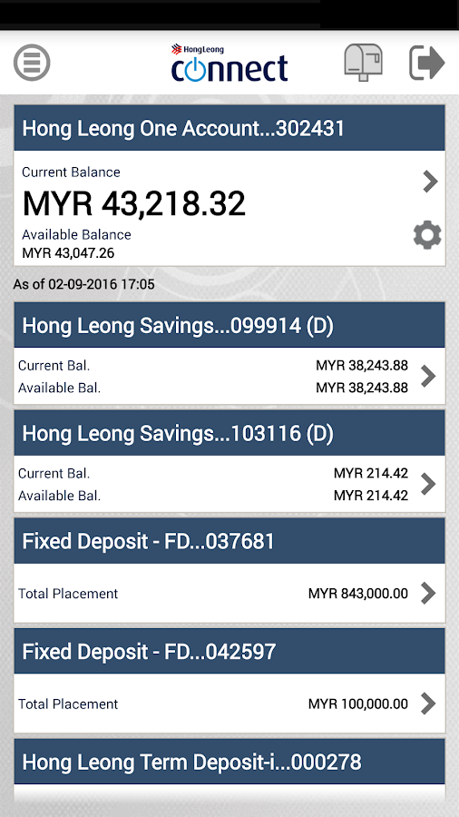 Hong Leong Connect Malaysia- screenshot