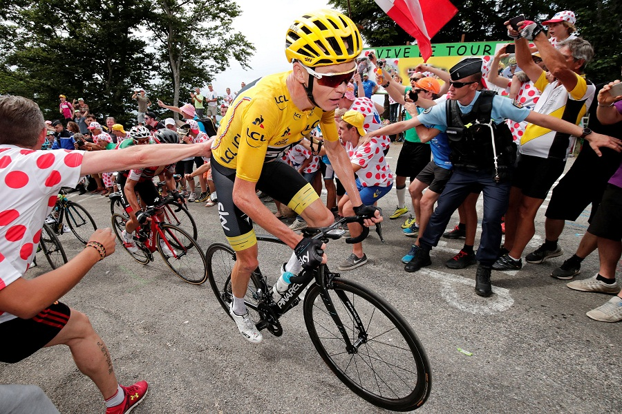 Chris Froome rides in Japan before heading to the rugby