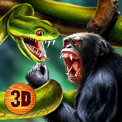 Wild Anaconda Snake Fighting: Animals Battle Game