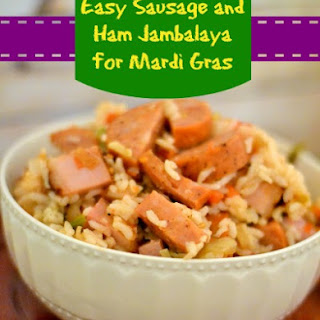 Easy Sausage and Ham Jambalaya for Mardi Gras