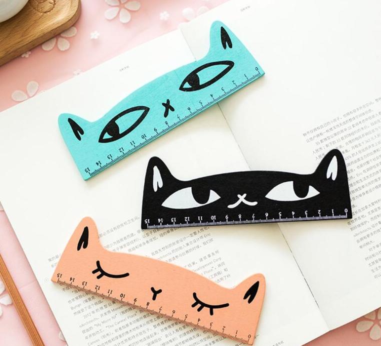 bullet journaling journal cat ruler
