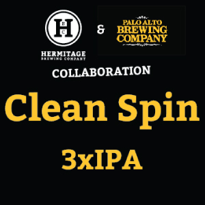 Logo of Hermitage & Palo Alto Collab Clean Spin