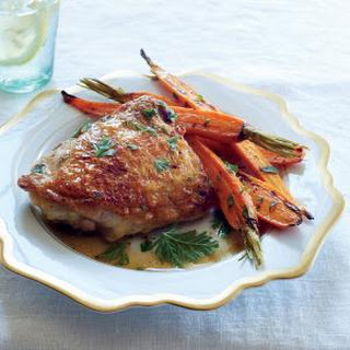 Meltingly Tender Chicken with Miso, Ginger, and Carrots