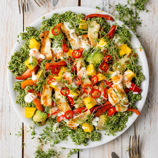 Multi-Coloured Halloumi and Quinoa Salad