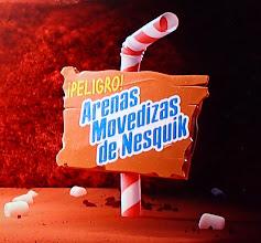 Photo: Danger! Nesquik-Sand (exact original wording, I checked)