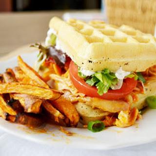 Buffalo Chicken Waffle Sandwich
