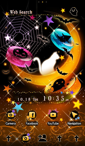 玩免費遊戲APP|下載White Cat on Halloween +HOME app不用錢|硬是要APP