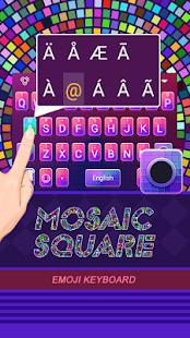 Mosaic Square Theme&Emoji Keyboard - náhled