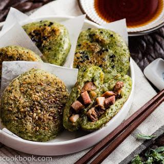 Chinese BBQ Sticky Rice Cake.
