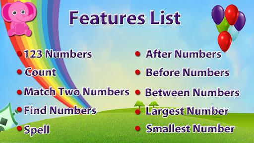 Toddler numbers Pre K Math App