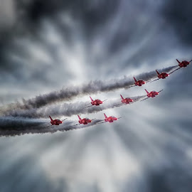 Through the Clouds by Kelly Murdoch - Transportation Airplanes