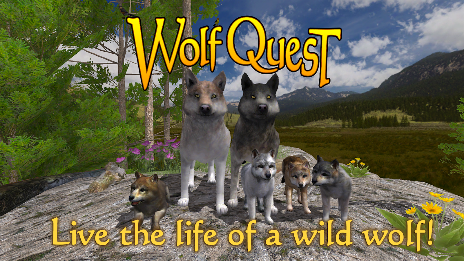 WolfQuest- screenshot