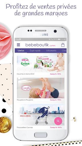 Bebeboutik – Ventes privées bébé, enfant et maman Android App Screenshot
