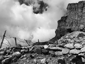 Photo: In the Dolomites: Trenches at 9,000 feet