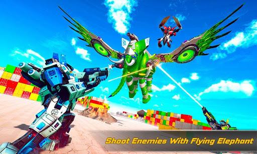 Flying Elephant Robot Transform: Flying Robot War 1.1.1 Screenshots 1