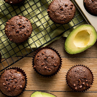 Chocolate Avocado Muffins.