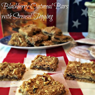 Blackberry Oatmeal Bars with Streusel Topping