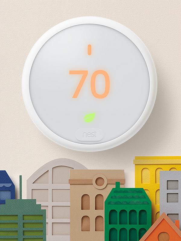 Nest ThermostatE sur un mur