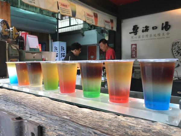 台南中西區海安路專治口渴,就用漸層飲品來豐富一夏。
