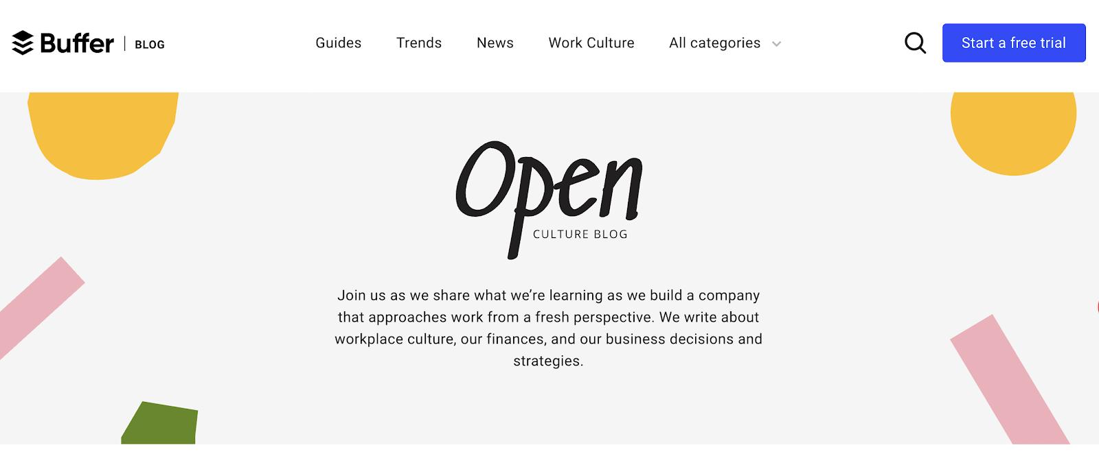buffer open culture blog