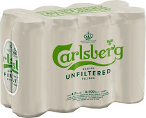 Carlsberg Danish Unfiltered Pilsner - 8ct, 500ml