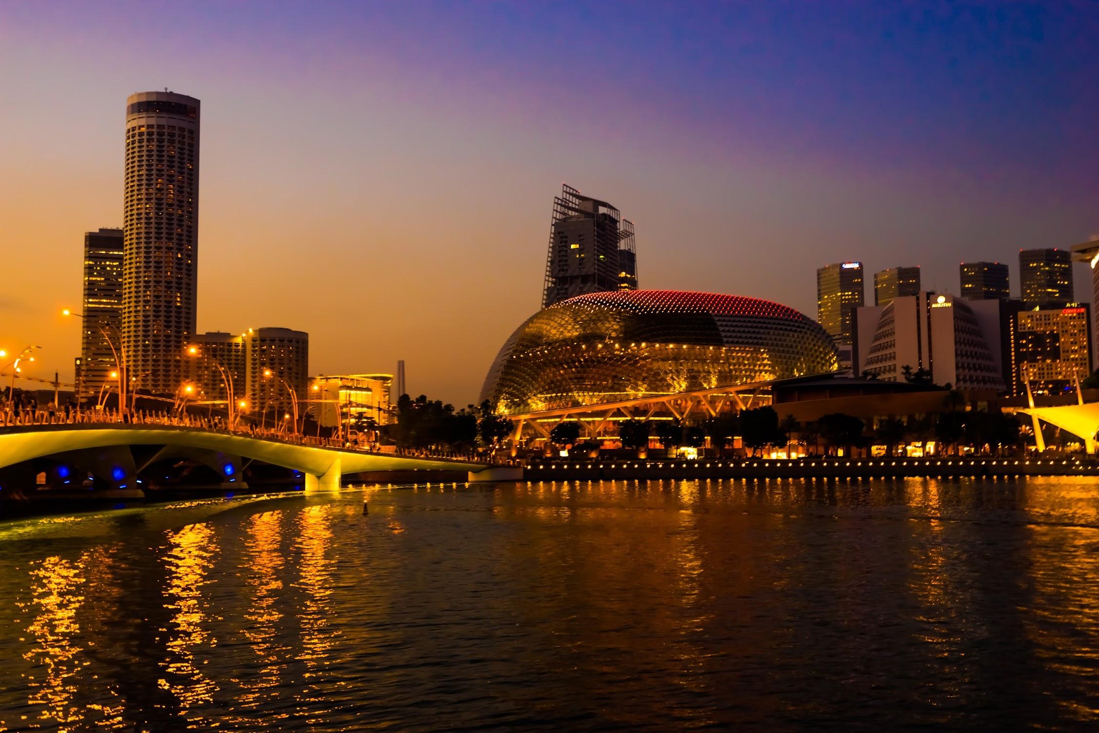 シンガポール エスプラネード 夕景1