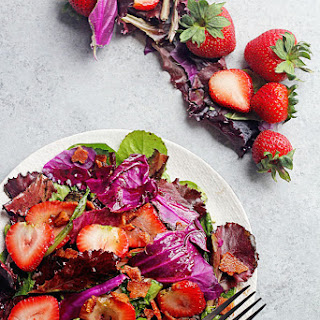 Hot Strawberry Spinach Salad with Bacon