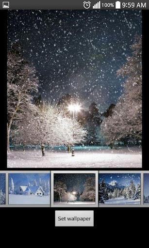 降雪動態壁紙