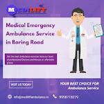 Medical Emergency Ambulance Service in Boring Road by Medilift