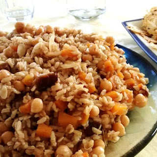 Rice Salad with Chickpeas, Dates and Butternut Squash.