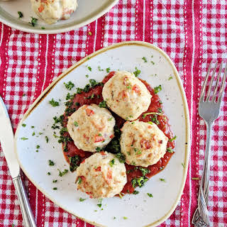 Mozzarella Stuffed Turkey Meatballs.