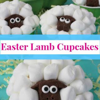Easter Lamb Cupcakes